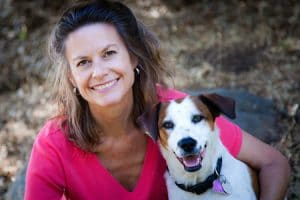 Laura Hout with Dog